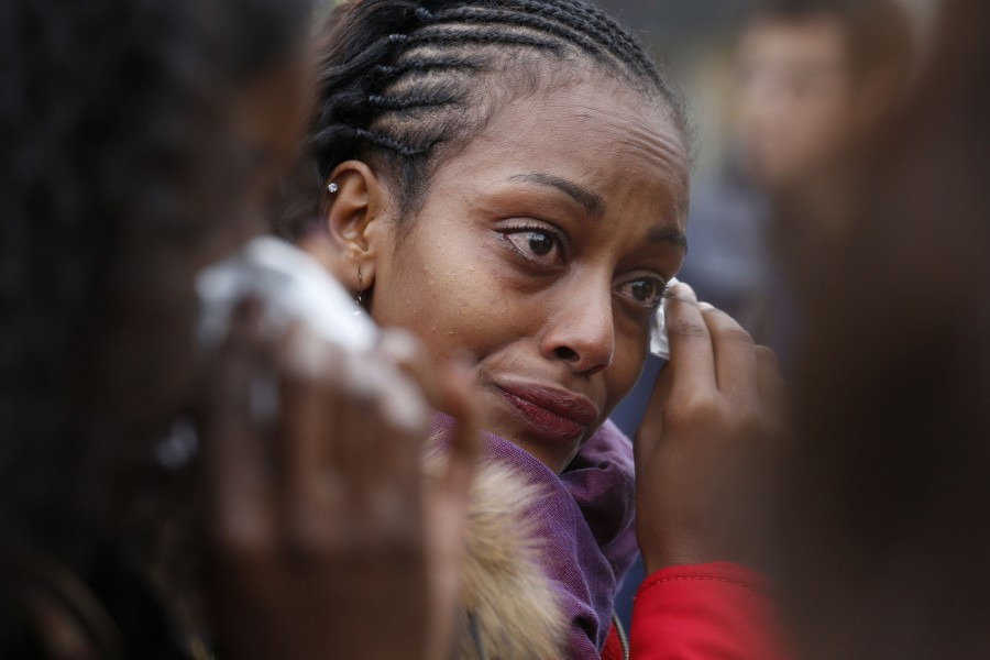 Parisian Selma Tekalegn is very emotional thinking about the people who died on Nov. 16, 2015 in Paris during a moment of silence under the Eiffel Tower. I dont understand why this is happening, Selma says.