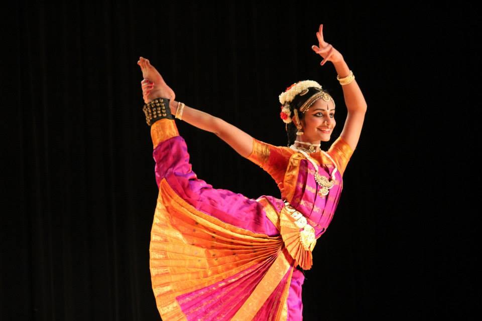 Senior Swathi Jaisankar demonstrating stunning Indian dance  moves.