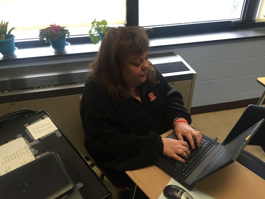 Instructional assistant Karen Stollery is one of the schools true unsung heroes.