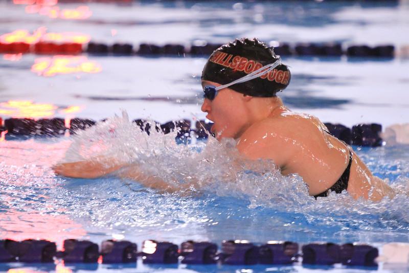 Senior Megan Bull competes in a recent meet against Bridgewater-Raritan.