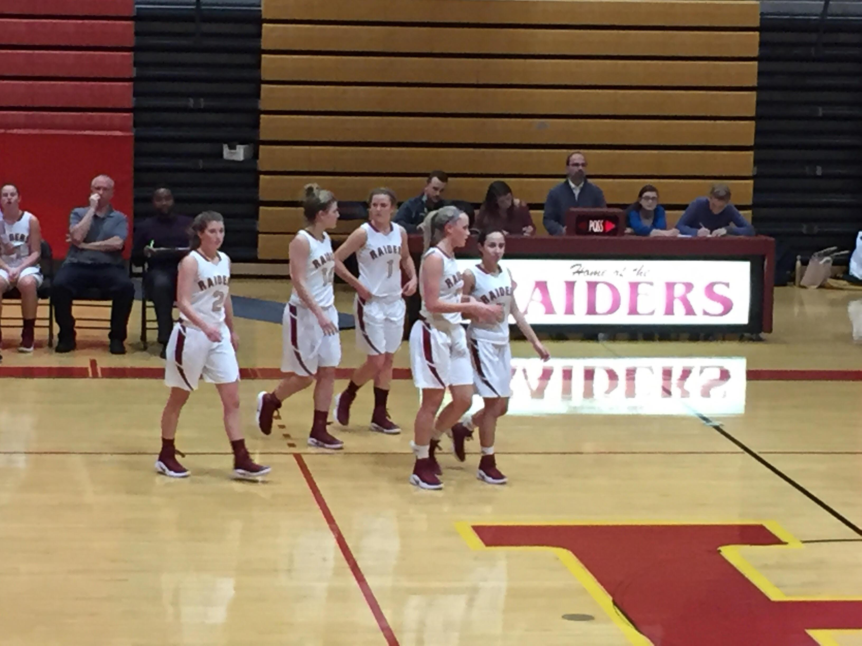 The Lady Raiders took to the court against North Hunterdon earlier this year. The Raiders lost a close 47-43 game to the Lions.