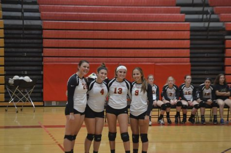 Girls volleyball experiences unusual Senior Night