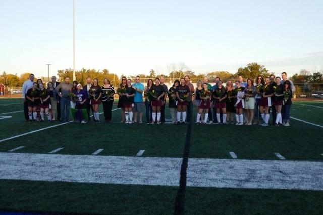 Senior+Raiders+were+honored+prior+to+a+5-0+win+over+North+Hunterdon+on+Senior+Night.