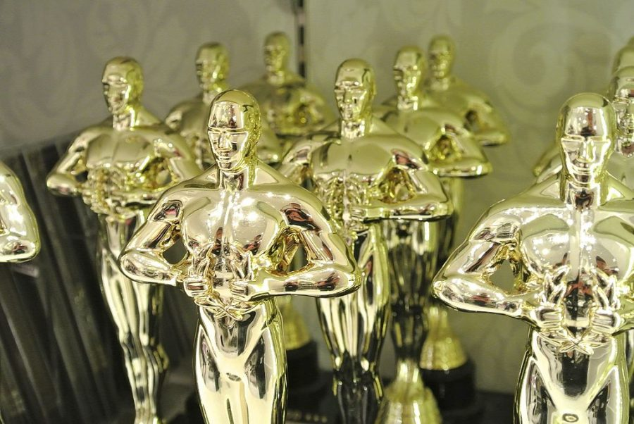 The+Oscar+statues+are+readied+for+March+4.