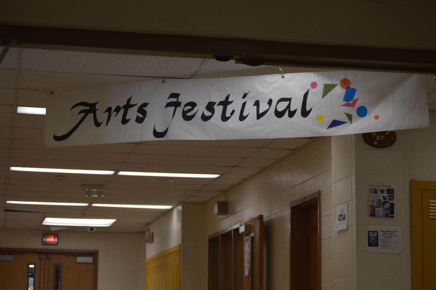 The Winter Arts Festival showcased an assortment of talented art works from first semester art students.