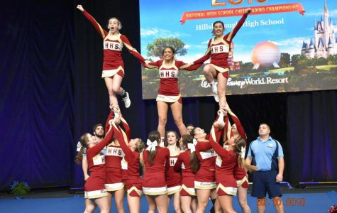 Cheerleading team competes in the UCA National High School Cheerleading Championship