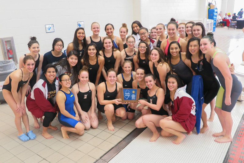 Girls+swim+is+all+smiles+after+capturing+a+third+straight+sectional+title.