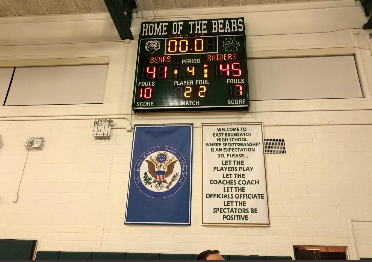 Girls basketball got the big win in East Brunswick.