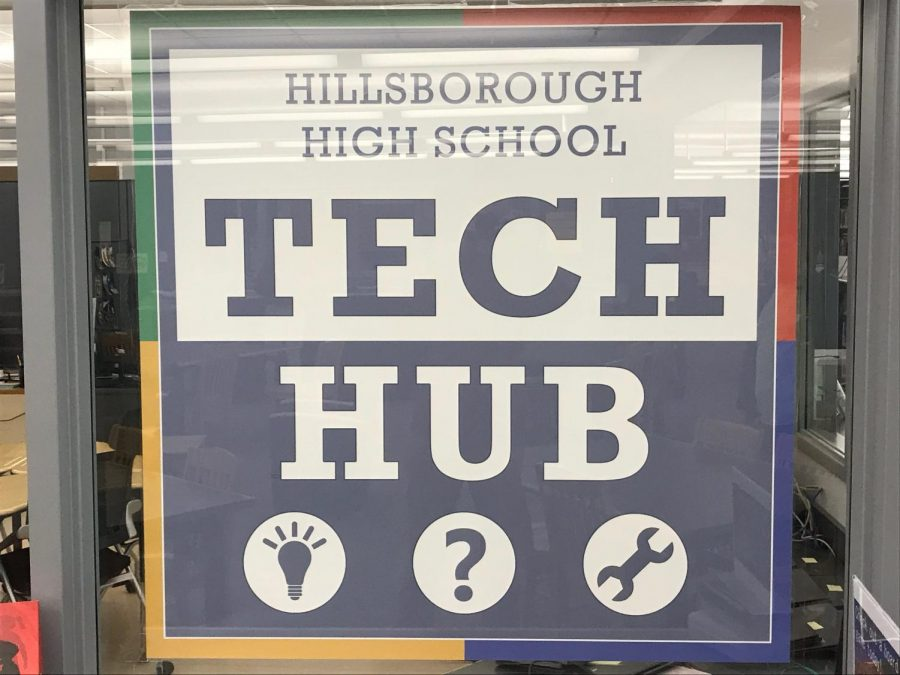 Students+head+to+tech+hub+in+wake+of+Chromebook+issues.+Fortunately%2C+new+student+computers+are+expected+to+arrive+for+next+year.