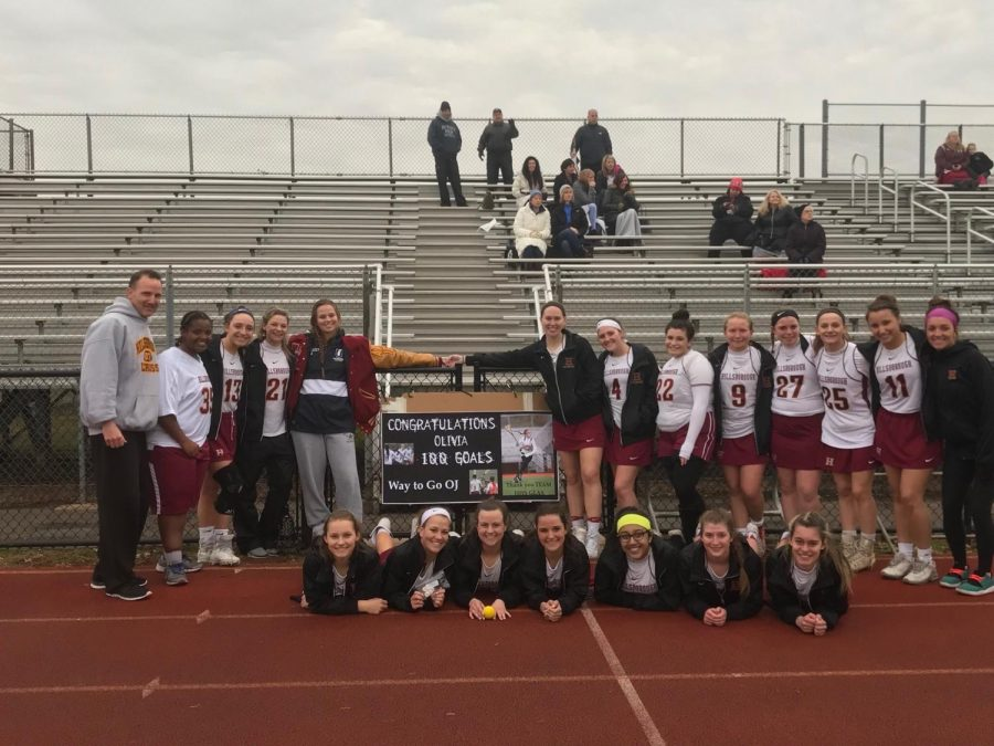 Olivia Johnsen nets her 100th lacrosse goal