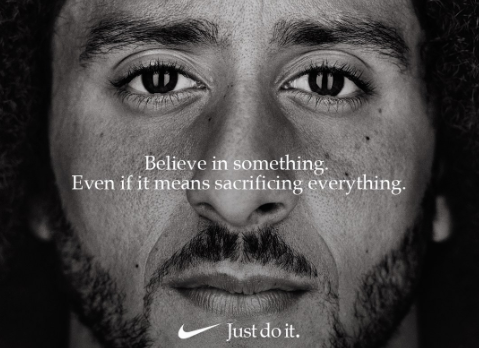 Colin Kaepernick, former 49ers quarterback, is the latest face for Nike.