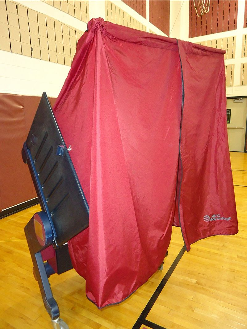 Voting booths will be ready to tally your votes here at Hillsborough High School on Nov. 6.
