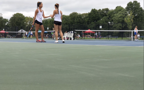 Girls tennis doubles teams dominating matches