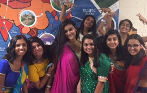 Students get down at Garba