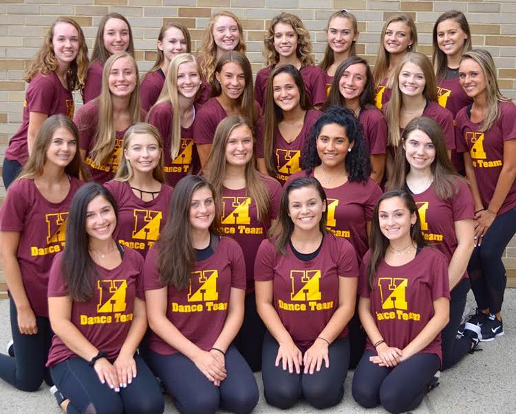 New+dance+team%2C+posing+in+their+new+attire%2C+are+busy+preparing+for+the+school%27s+inaugural+season.