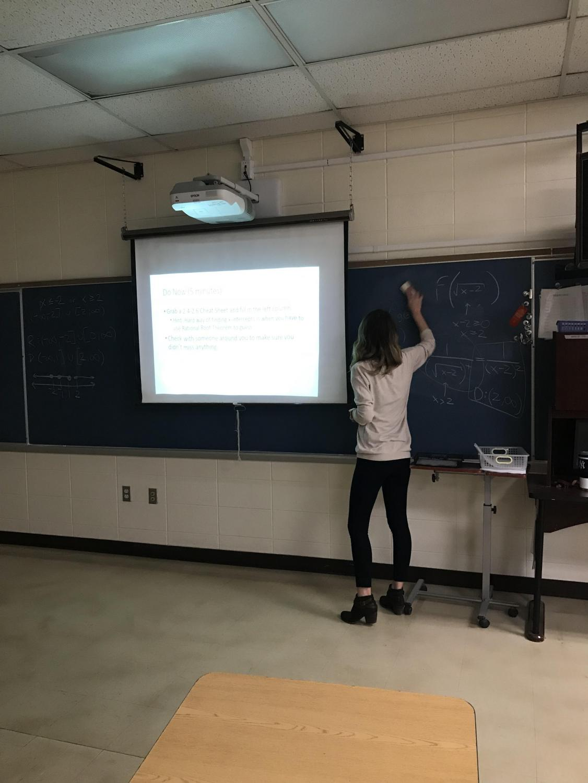 One of Hillsborough's newest teachers is math teacher Rebecca Mulvihill.