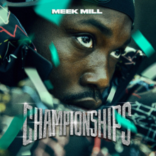 The album cover depicts Meek Mill in a football helmet, representing the Philadelphia Eagles.