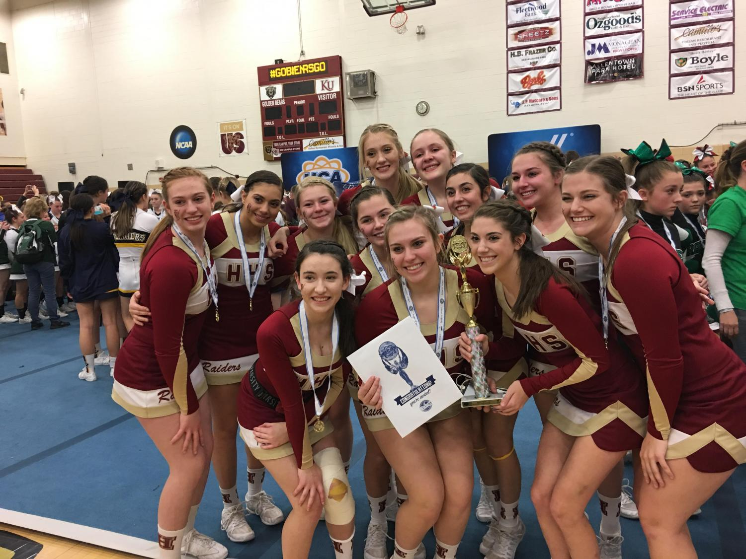 The competition cheer team earned a ticket to the Nationals at Disney.