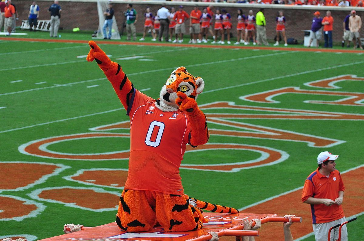 The Clemson Tiger mascot at the Clemson/Boston College game on September 19, 2009.