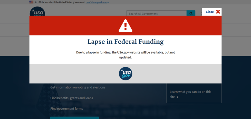 The government shutdown is impacting funding and little hope appears to be in sight.