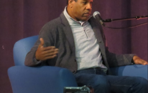 Pulitzer Prize winning poet Gregory Pardlo talks to English and history students