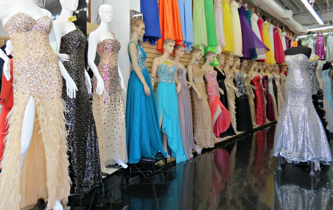 Prom dresses of today greatly differ from those of the past.