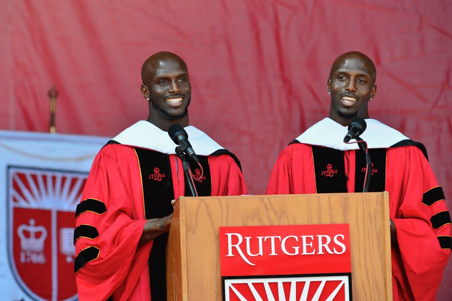 The McCourty brothers delivered an inspiring commencement address to the graduating class of 2019.