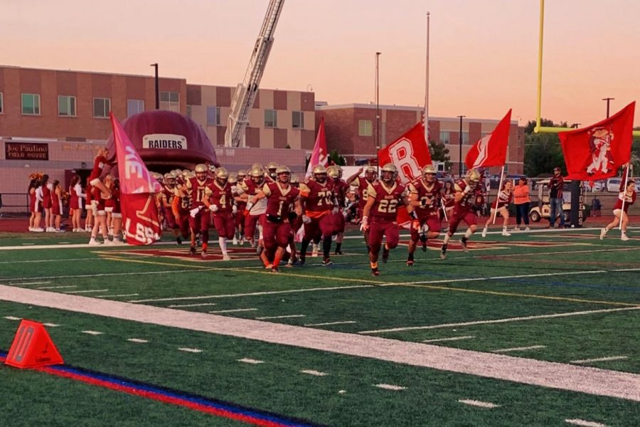 The+Raiders+running+out+of+the+tunnel+before+their+games+always+gets+the+home+crowd+buzzing+with+excitement.