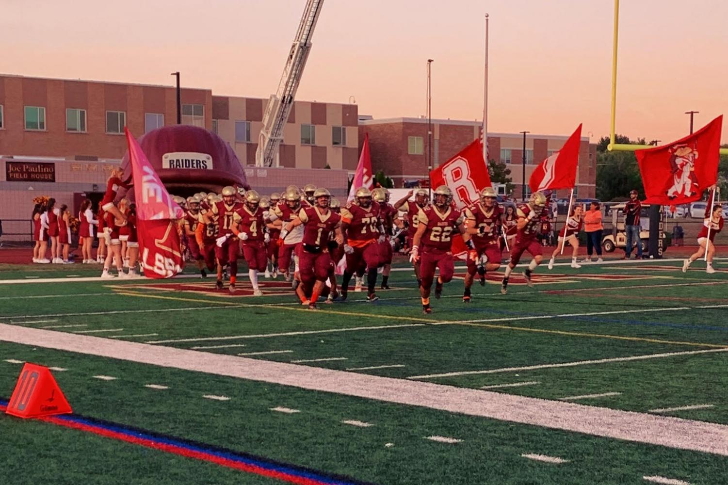 The Raiders running out of the tunnel before their games always gets the home crowd buzzing with excitement.