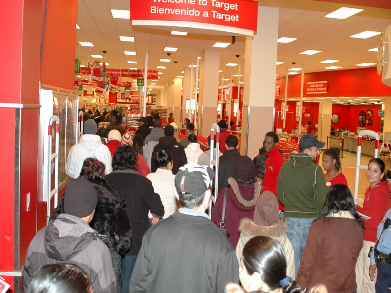 Black Friday shopping is one of the largest and busiest shopping days of the year.