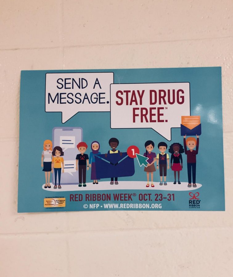 Posters+adorn+the+halls+of+HHS+to+promote+Red+Ribbon+Week.