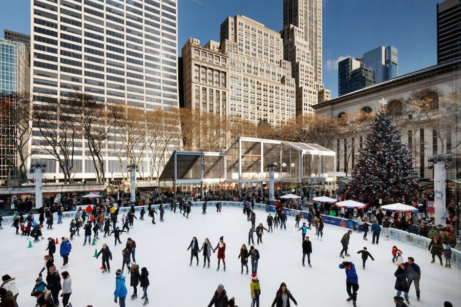 Bryant park is just one of the numerous holiday attractions NYC has to offer