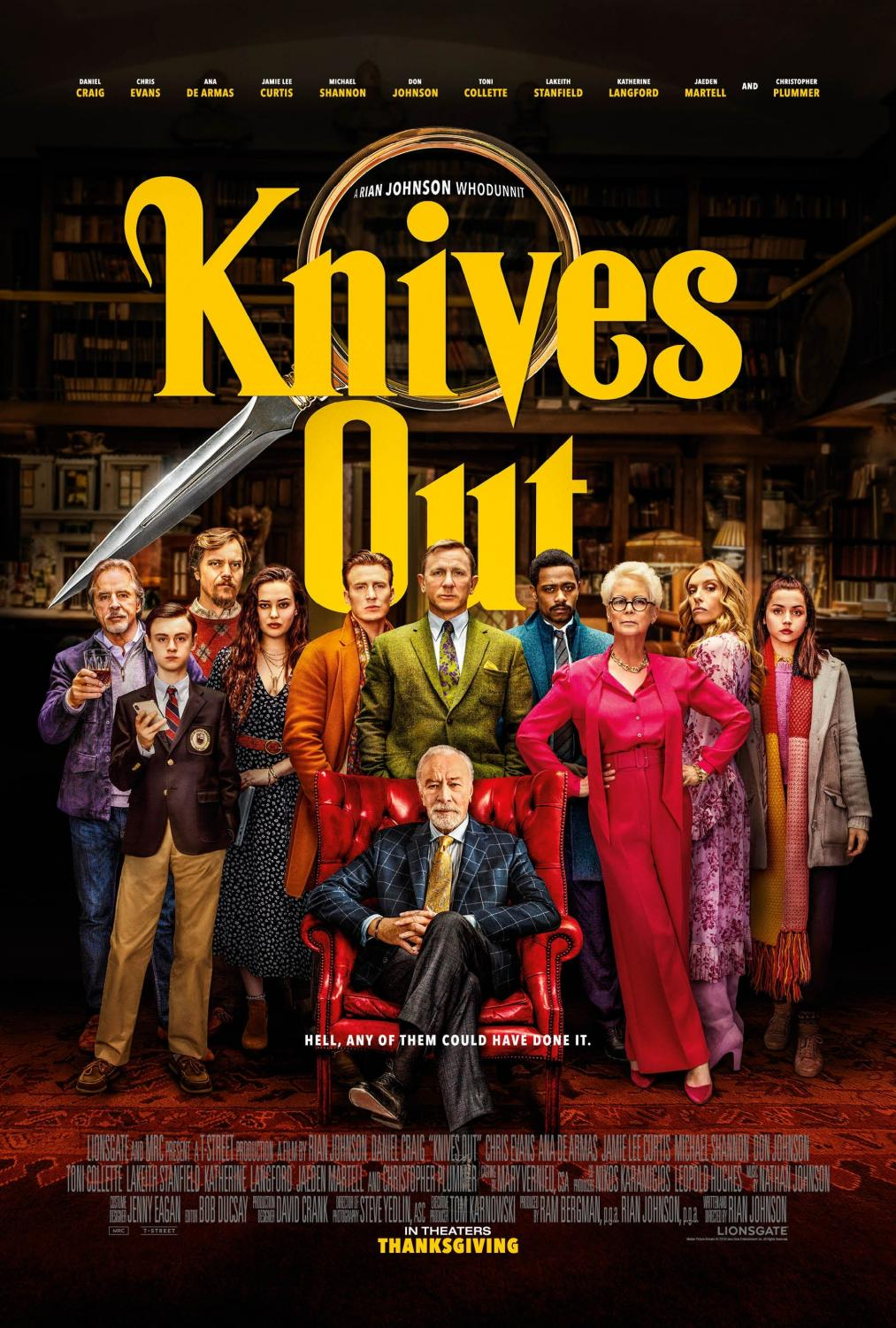 Published under fair use. In theaters since Thanksgiving, Knives Out has attracted attention from fans and critics alike.