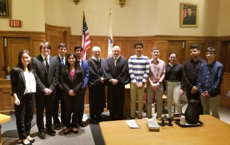HHS Mock Trial team after winning the county finals.