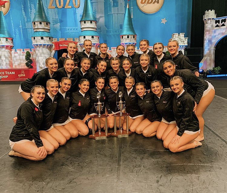 The Dance Team poses with their trophies