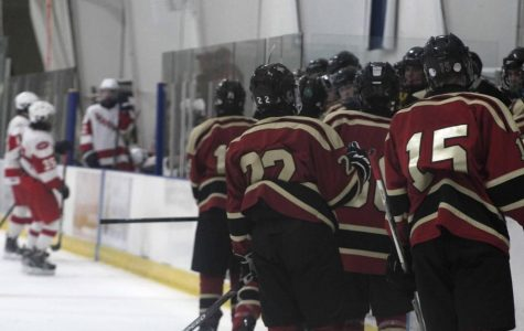 The Hillsborough Ice Hockey team gets ready for a game against Nottingham.