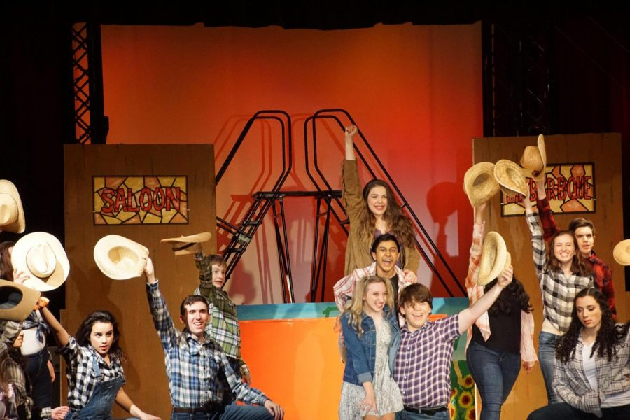 The+cast+of+%22Footloose%22+rehearses+prior+to+opening+night.