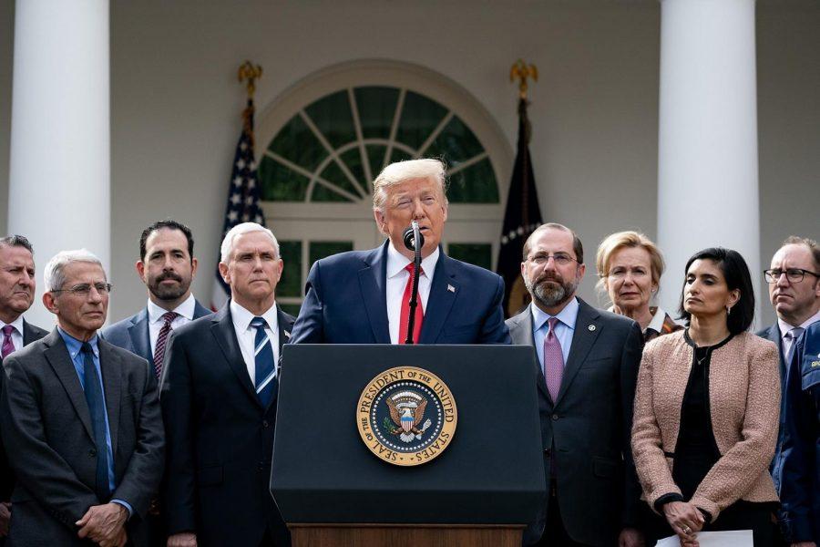 President Trump gives conference regarding Coronavirus concerns.