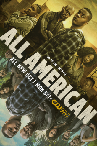 All American character cast, main character Spencer James in the middle.