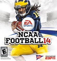 Cover of NCAA Football 14. A game sorely missed by gamers.