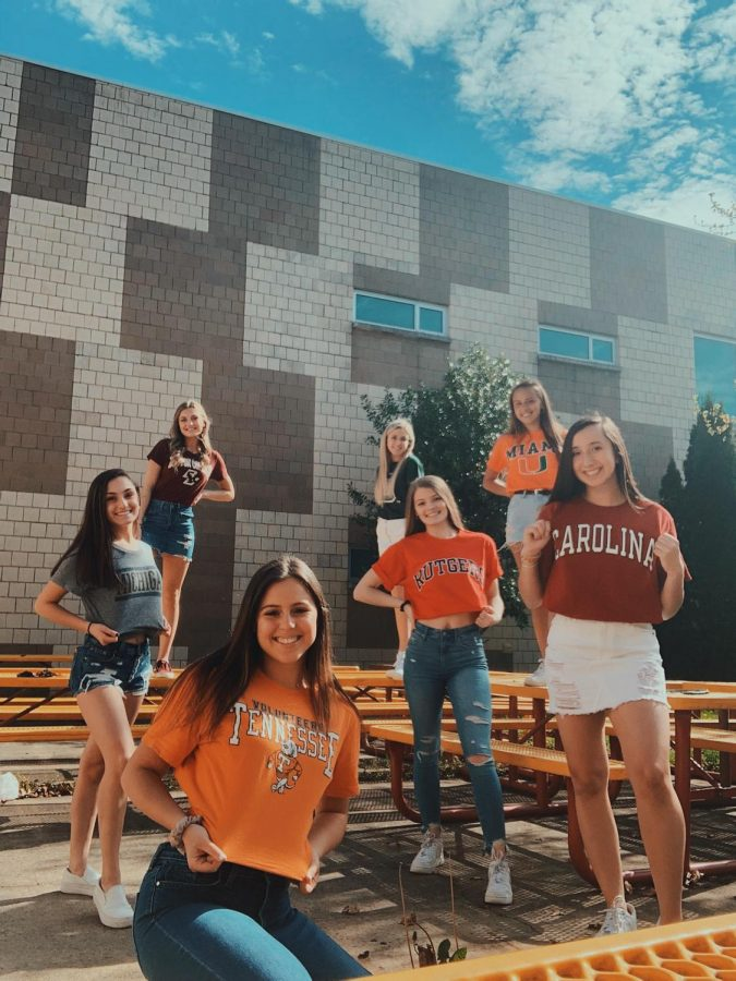 Seniors proudly show off their new schools