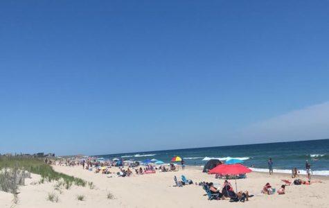 People enjoying the hot summer day in Long Beach Island.