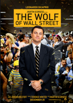Leonardo DiCaprio stars in The Wolf of Wall Street.
