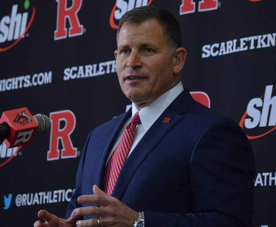 Rutgers+Football+Head+Coach+Greg+Schiano+rejoins+the+team+and+speaks+to+reporters%2C+fans%2C+and+players+at+his+first+Rutgers+press+conference+since+2011.