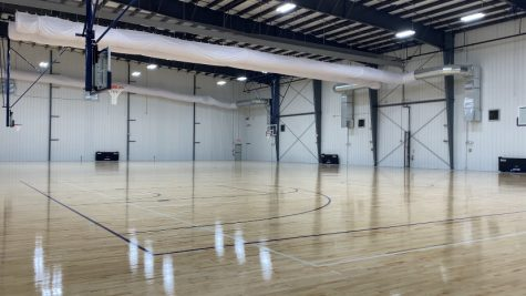 New basketball and volleyball court at Iron Peak