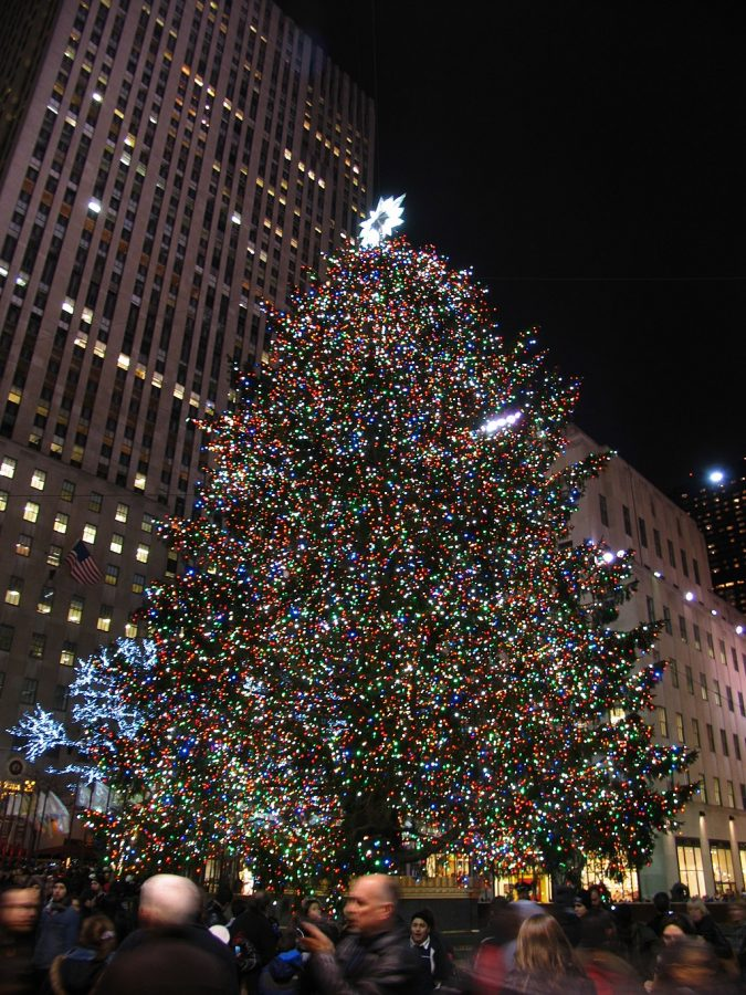 The spectacular Rockefeller Center Christmas tree in 2011.