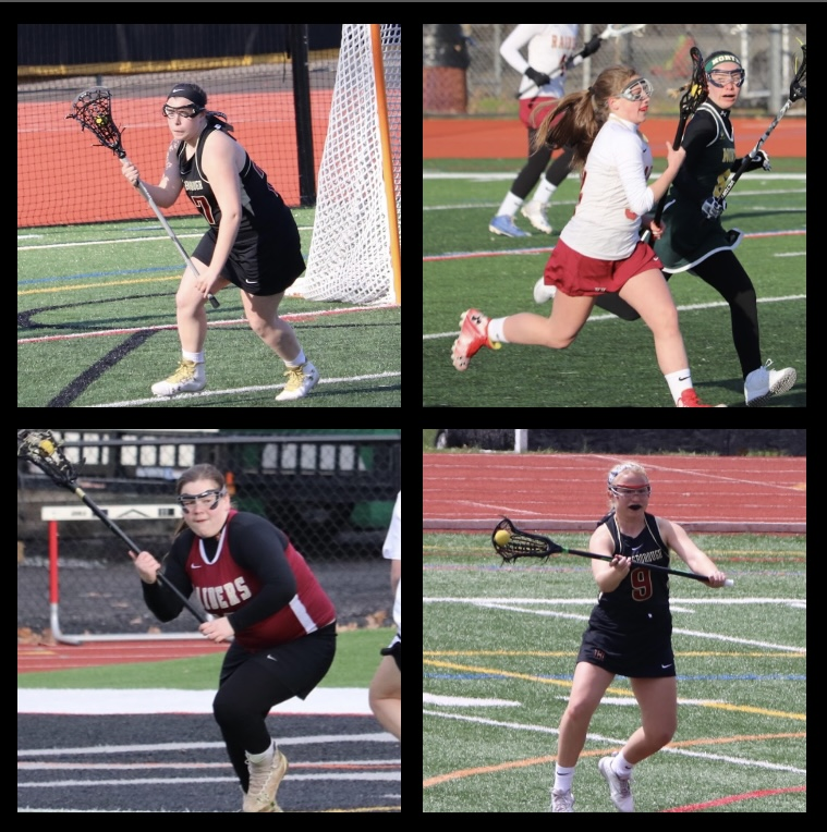Seniors+Jennifer+Koval%2C+Mia+Boccippio%2C+Grace+Venis+and+Olivia+Halverson+have+committed+to+playing+collegiate+lacrosse.