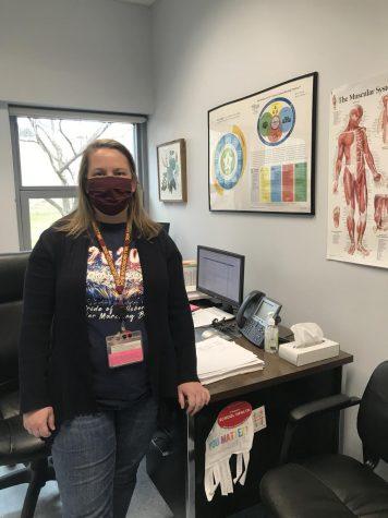 Nurse Jennifer Amponin was recently named the school