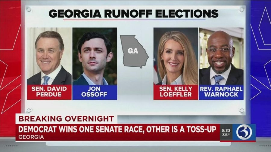 In the Georgia Senate runoff election on Jan. 5, 2021, Republican incumbents David Perdue and Kelly Loeffler ran against Democrats Jon Ossoff and Raphael Warnock.