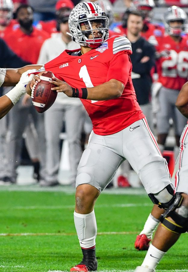 Quarterback+Justin+Fields+of+Ohio+State%2C+will+have+to+make+a+difference+if+the+Buckeyes+want+to+be+champions.